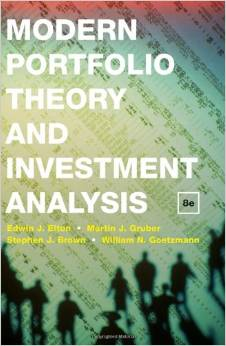 Modern Portfolio Theory and Investment Analysis 8th Edition
